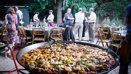paella food station catering sydney